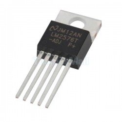 LM2576 - ADJ, 3A Adjustable Switching Voltage Regulator, TO220-5 Lead