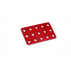 Flat Rectangular Metal Plate 3 x 5 Holes