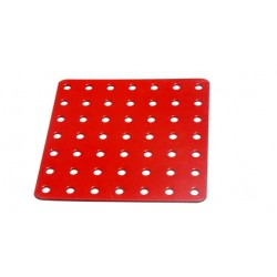 Flat Square Metal Plate 7 x 7 Holes