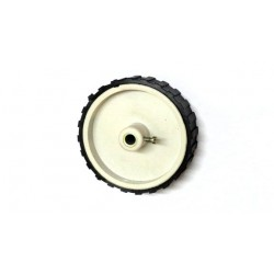 Wheel for DC motor 7cm Dia , 2cm Width , 6mm Bore