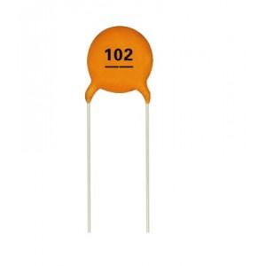 0.001 uF / 1000 pF Multilayer Ceramic Disc Capacitor (102)  - CT4-0805Y102M500